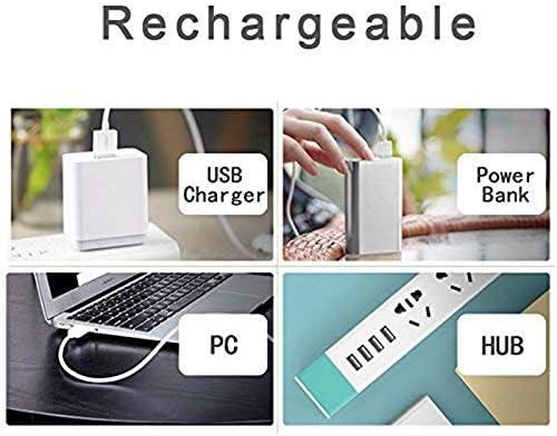 Flmn Small Fan USB Rechargeable Battery Powered Fan Quiet Small Desktop Portable Home Office Travel
