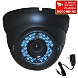 VideoSecu Dome Outdoor CCD Vandal Proof Security Camera Day Night Vision 420TVL 36 IR Infrared Leds 4-9mm Zoom Focus Varifocal for Home CCTV DVR Surveillance System with Power Supply 1ZH Review