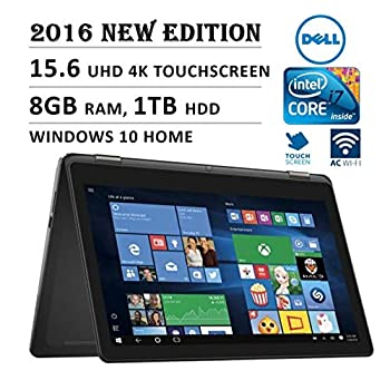 Image of 2016 DELL Inspiron i7568 Flagship High Performance 2-in-1 15.6' 4K Ultra HD Touchscreen Convertible Laptop PC, Intel Core i7-6500U Processor, 8GB RAM, 1TB HDD, Backlit Keyboard, Windows 10 (Renewed) Traditional Laptops