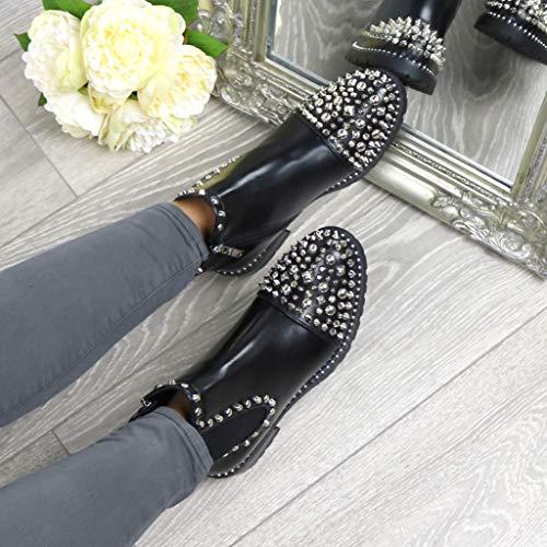 Femme Noir Bottes pour Mat Ajvani RZ8pqw