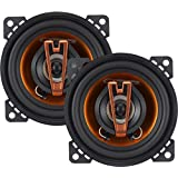 Cadence Acoustic S Q422 150W 4-Inch 2-Way Q-Series Coaxial Car Speakers, Set of 2