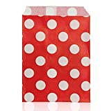 cooks tools polka dot - Vivona Bakeware & Accessories - 25pcs Biodegrable Polka Dot Candy Gift Bag Wedding Party Paper Food Bag - (Color: Red)
