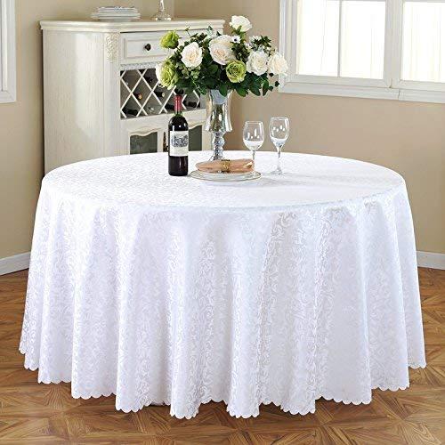 Lts テーブルクロス、ポリエステルテーブルクロス、白ラウンドテーブルクロスユニークなパーティーディナーテーブル、レストラン、カフェ、ホテル、ノルディックスタイルに最適 (サイズ : Rond-280cm) Rond-280cm  B07RVL6CQ9