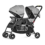 Besrey Double Stroller Baby Tandem Stroller 0-36 Months with Adjustable backrest foot plate and 5 Point Harness