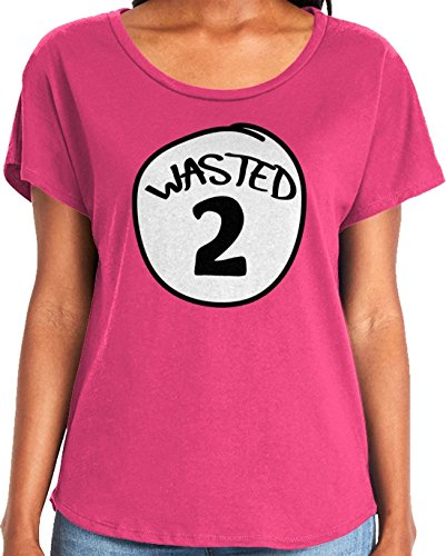Amdesco Ladies Wasted 2 Dolman T-Shirt, Hot Pink 2XL]()