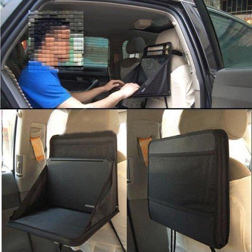 FireAngels supporto per auto per computer portatile da fissare sul sedile dellauto utilizzabile anche come piano da lavoro per mangiare oppure come organizer da tavolo fatto a borsa