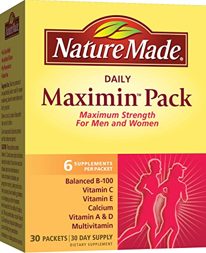 Daily Vitamin Packs - Nature Made Maximin Health Pack w. 30+ Key Vitamins & Minerals 30 Day Supply