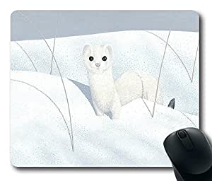 """Rectangle Mouse Pad Ermine Durable Rubber Customized Mousepad 220mm*180mm*3mm (9""""*7"""") -WS82049"""