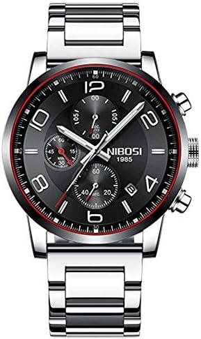 クォーツ腕時計ウォーターレジストウォッチ男性スポーツファッションブラック腕時計ステンレス鋼高級男性時計