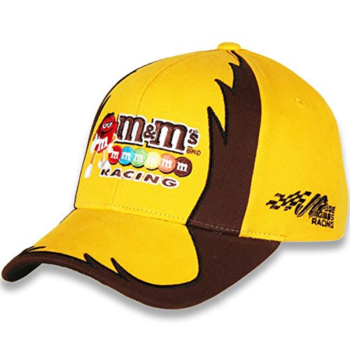 NASCAR Adult Jagged-Driver-Adjustable Hat/Cap-Kyle Busch #18-M&M's (Race Nascar Busch)