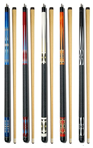 (Set of 5 Pool Cues New 58