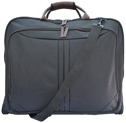 TravelMate 40-Inch Carry On Travel Suit Garment Bag with Shoulder Strap and Shoe Pockets - Black