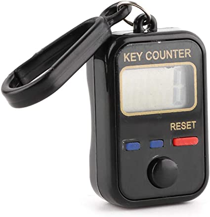 Chuiouy Digit Tally Counter 0-99999 Electronic LCD Keychain Finger Counter for Sewing Knitting Weave Tool
