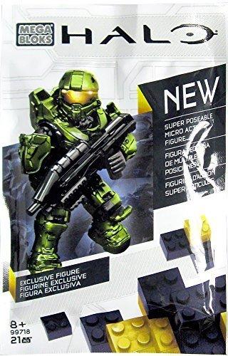 Mega Bloks Halo Exclusive Super Poseable Micro Action Figure Green Master Chief