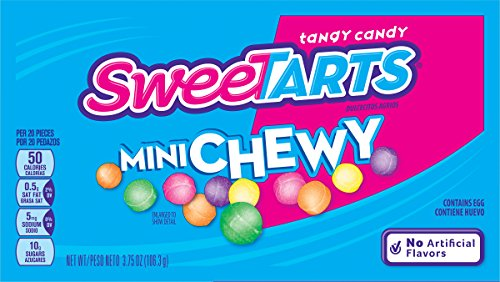 SweeTARTS Mini Chewy Candy Video Box, 3.75 Ounce (Pack of 12) (Box Sweet Candy)
