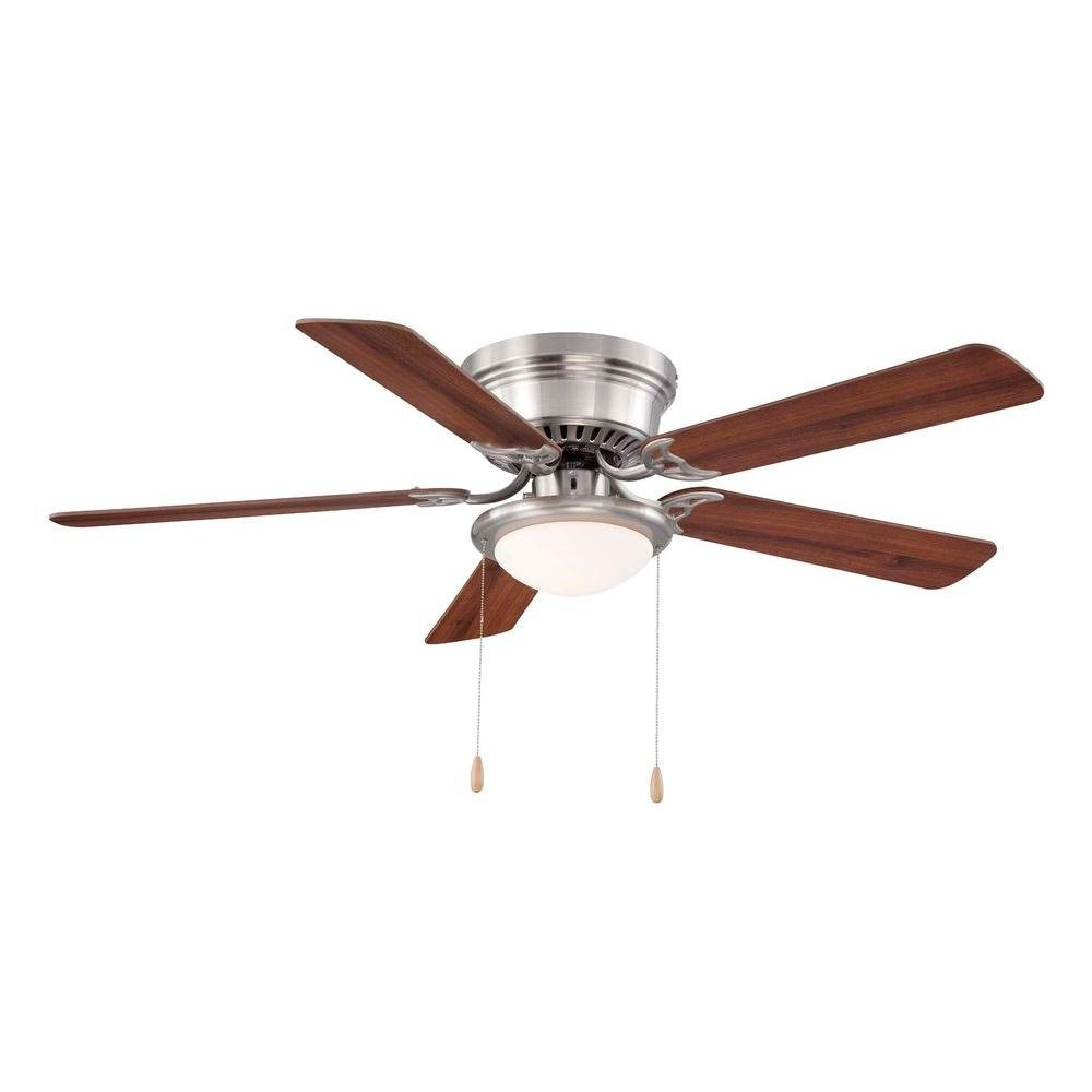 Hampton Bay Hugger 52 In. Brushed Nickel Ceiling Fan by Hampton Bay ...
