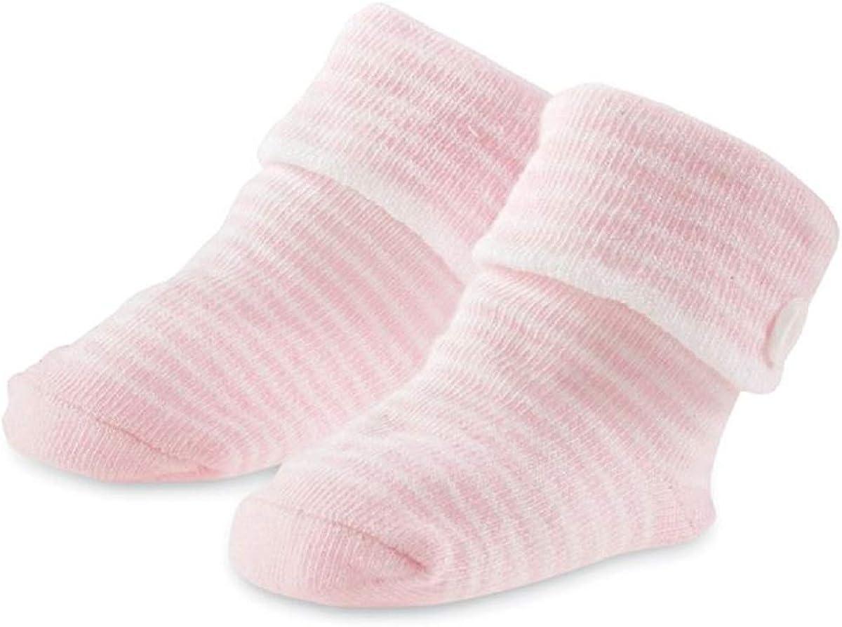 Mud Pie Pink Striped Button Socks