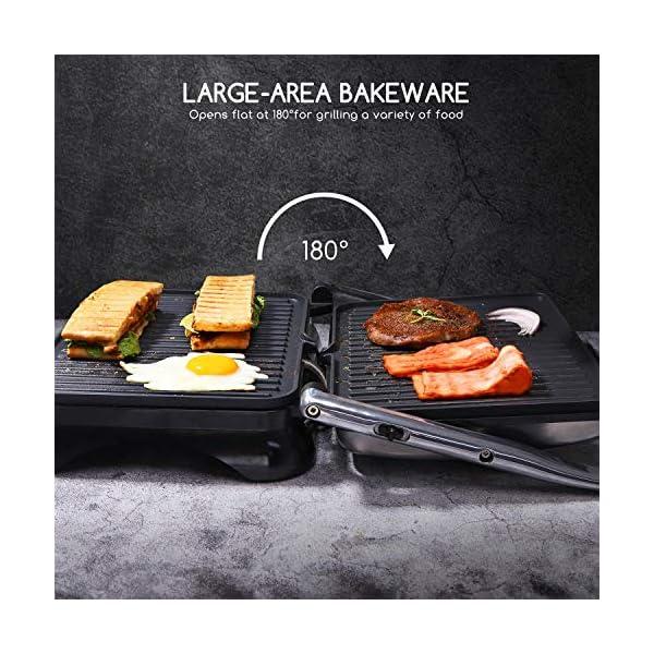 Aigostar Samson - Griglia multifunzione per panini maker da 2000W con 2 piani di cottura 29.5 * 23.5cm. Temperatura… 4