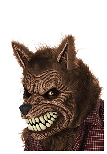[California Costumes Men's Werewolf Ani-Motion Mask Lycan Horror, Brown, One Size] (Lycan Costume)
