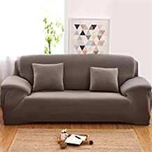 Stretch Elastic Fabric Sofa Slipcovers 3 Seater Protectors Sofa Couch Covers Washable Easy Fit