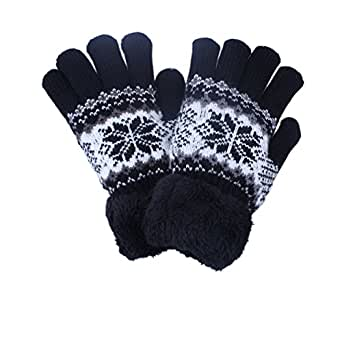 Amazon.com: 2Pairs Kids Boy Girl Warm Winter Gloves