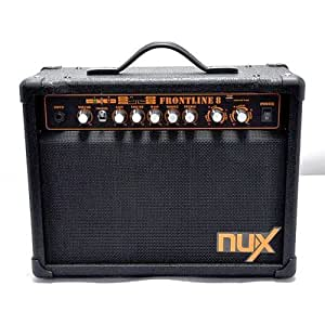 nux frontline 8 electric guitar amplifier 8 watt clean and distortion home audio. Black Bedroom Furniture Sets. Home Design Ideas