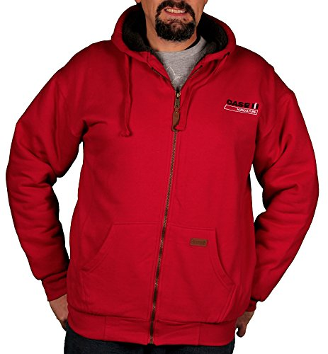 Case IH Men's Sherpa-Lined Hoodie (Large, Red) from Case IH