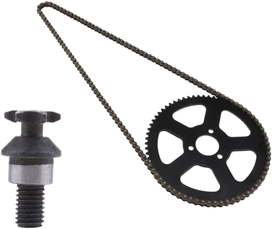 B Blesiya 1 Stück Kette 68 Zahn Kettenrad Kettensätze Passend Für 2 Takt 49cc Mini Pocket Bike Auto