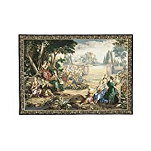 "Fine Art Tapestries ""Romantic Pastoral Scene Cotton and Wool"" Wall Tapestry"