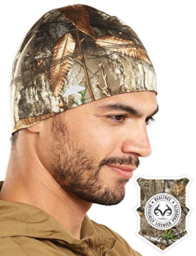 (Realtree EDGE Camo Skull Cap/Helmet Liner/Thermal Running Beanie Hat )