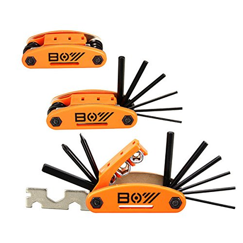 Bazaar 15 In 1 Mountain Bike Repair Tools Sets Screwdrivers With Multi Wrench Sockets Square Rod