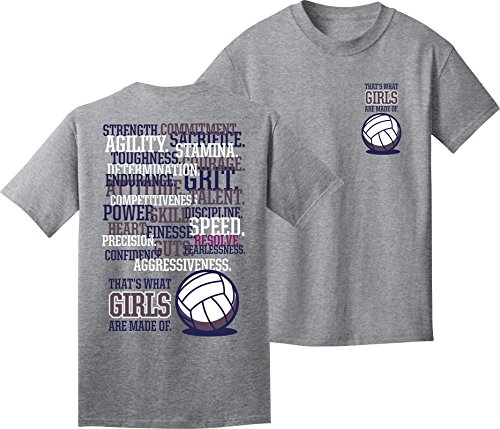 Utopia Sport Volleyball T-Shirt: Girls are Made Volleyball -Adult - Volleyball Sleeve T-shirt Short