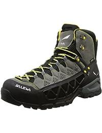 Men's Alp Flow Mid GTX Boots Smoke / Yellow 10.5 & Etip Lite Gripper Glove Bundle