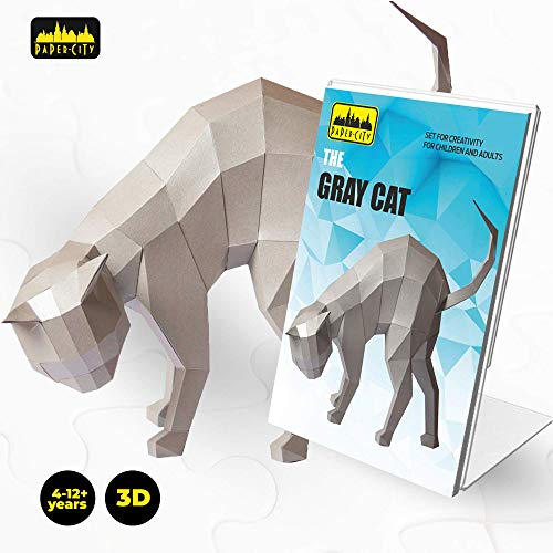 Zoo Puzzle Shaped Animals (PAPER CITY CAT 3D Puzzle — DIY 3D Model KIT for Kids&Adults — Best Family Arts and Crafts Activity — Best Toy Gift for Kids Age 4-12 Years Old&UP — Educational Fun and Creative Arts and Crafts KIT)