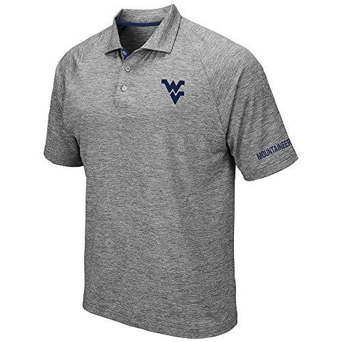 Mens WVU West Virginia Mountaineers Raglan Polo Shirt - - West Tackle Virginia