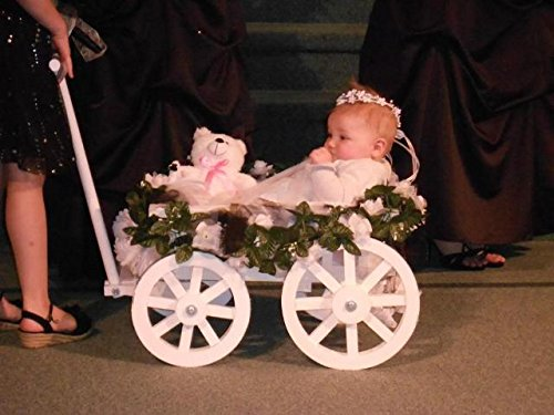 White Wagon Childs - Small Flower Girl Pumpkin Wagon - Gloss White