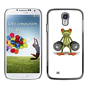 Paccase / SLIM PC / Aliminium Casa Carcasa Funda Case Cover para - Lifting Gym Frog Strong Body Building - Samsung Galaxy S4 I9500