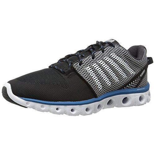 (K-Swiss Men's X Lite Cross-Training Shoe, Black/Griffin/Mykonos Blue, 6.5 M US)