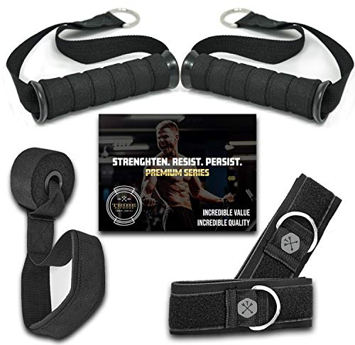 TRIBE Resistance Bands Accessories Equipment System for Home Gym, Exercise, Workout, Tube Bands & Cable Machines…