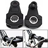 "Black Universal Motorcycle Handlebar Mount Clamps Riser Handle Fat Bar 7/8"" 22mm"