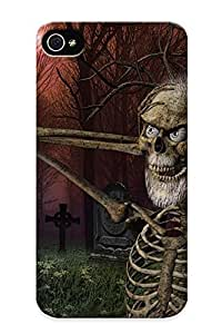 0 5 5s2a 5 5sb636 5 5s8 Tpu Phone Case With Fashionable Look For iPhone 5 5s - Skull Skulls Dark Humor Funny Halloween Cemetery Grave Skeleton Case For Christmas Day's Gift