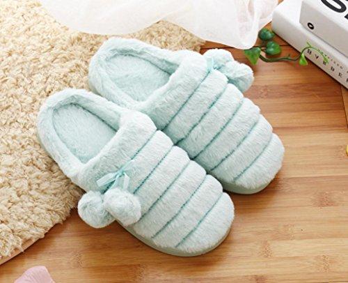 Ocio Interior De 1 Zapatillas Grande Mhgao Mujer Para Algodón Caliente Casa Y Gamuza En 0z77qp