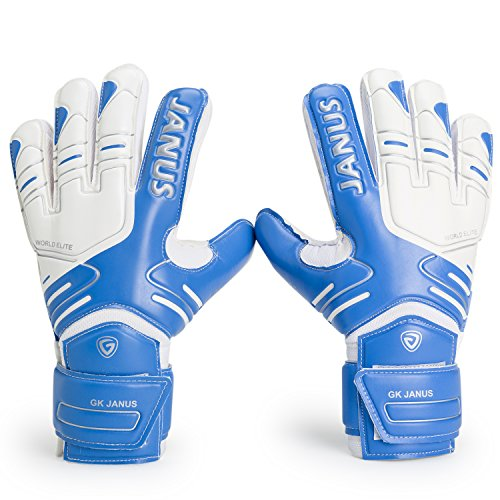 Valorsports Professional Fingesave Adult Kid Hand Palm Natural Latex Goalkeeper Gloves JA383 (Blue, 9)