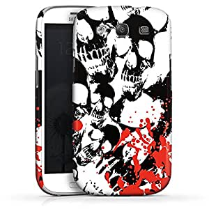 Carcasa Design Funda para Samsung Galaxy S3 i9300 / LTE i9305 PremiumCase white - Skull Blood