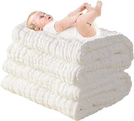 Lucear Toallas de baño para bebés recién nacidos, hechas de algodón, también se pueden usar como sábanas: Amazon.es: Bebé