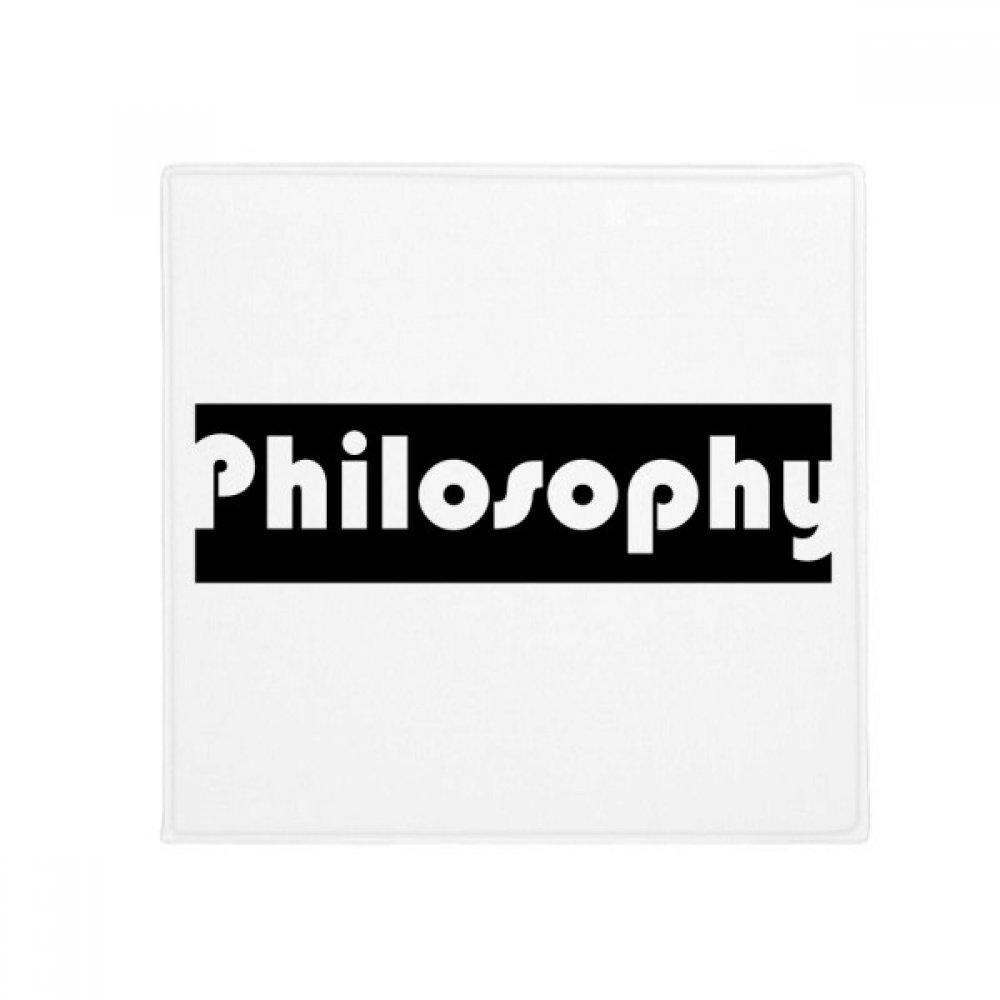 DIYthinker Course and Major Philosophy Black Anti-Slip Floor Pet Mat Square Home Kitchen Door 80Cm Gift