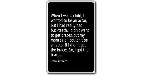 Imán para nevera con texto en inglés «When I was a child, I want ...