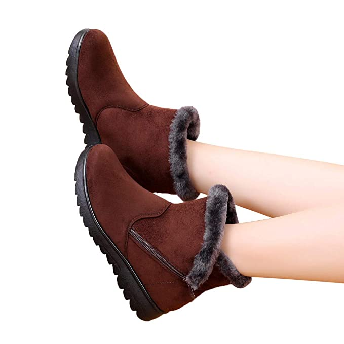 Zapatos de Mujer Botines Mujer Botas, JiaMeng Tobilleras de Invierno Botas Cortas para la Nieve