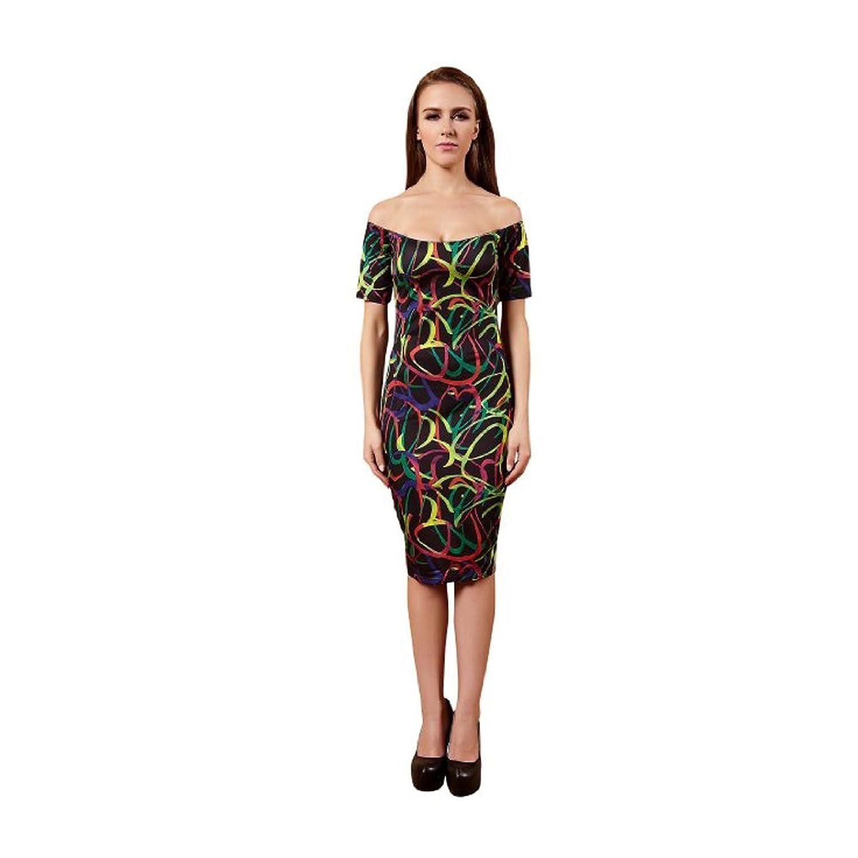 YiYiFS® Frauen-dünne feste kurze Hülsen-Abend-Kleid ED140