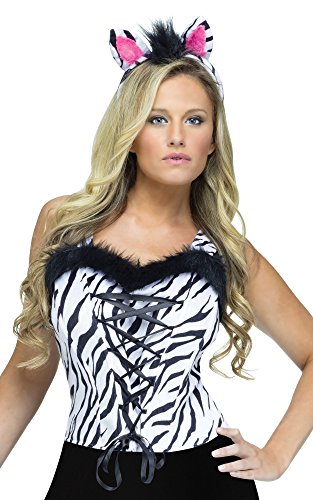 Zebra Wild Animal Corset (Wild Zebra Adult Womens Costume)
